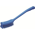 Vikan 4185, Vikan Long-handled churn brush stiff bristles The long handle on this brush allows the operator to reach into parts of equipment that are hard to access.