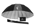 "CheetahStand 86"" Pebble Silver Deep Umbrella with Diffuser"