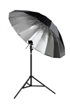 "Cheetah 84"" Parabolic Silver Umbrella"