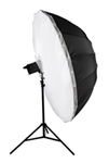 "Cheetah 84"" Parabolic Silver Umbrella And Flip Over Diffuser Combo"