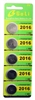 5 pk CR2016 Button Cell Battery