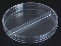 100 mm Diameter Plastic Petri Dishes with Vented Bi-Plate- 500 dishes