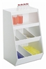Tall 8 Compartment - 2 shelf Adjustable Bin