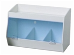 Lab Storage Bin with 3 Bins and 1 shelf