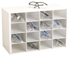 16 Compartment Safety Glass Holder