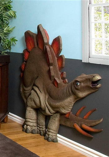 Beetling Stegosaurus Dinosaur 3d Wall Art Decor
