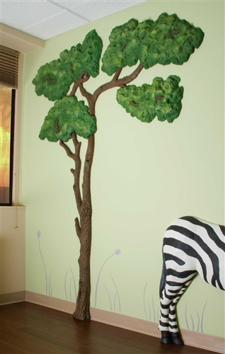 Beetling Acacia Tree African Safari 3d Wall Art Decor