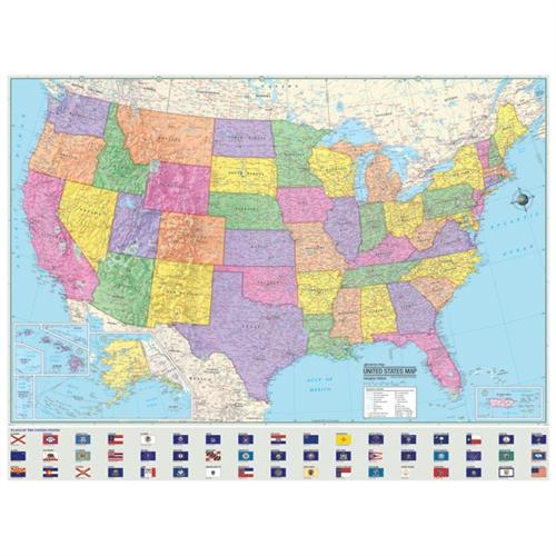Laminated United States Map.United States Map Laminated 45 1 4 X 37 1 2