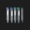 15ml Conical Centrifuge Tubes - Green Caps - Black Letters- 250pk
