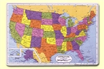 United States Map Placemat