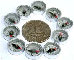 Pack of 10 12mm compasses