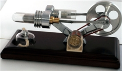 Stirling Engine with LED Light