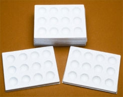Spot Plate - Porcelin  with 6 Depressions