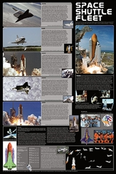 Space Shuttle Fleet - Laminated