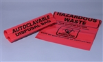 "MTC BIO Red Autoclave Bags, Biohazard Maked 12.2"" x 26"" 400pc"