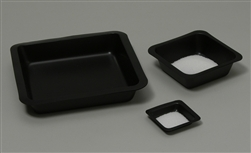 Weigh Boats, Square, Black, 100ml, 80mm x 80mm 2000pc