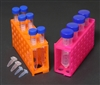 4-Way Centrifuge Tube Rack for 4x50ml, 12x15ml, 32x0.5/1.5ml Set of 5