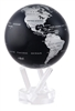 "Mova 4-/12"" Solar Spinning Globe Black and Silver"