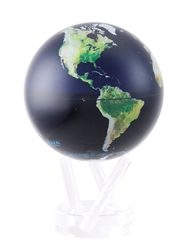 "Mova 4-/12"" Solar Spinning Globe with Satellite View"