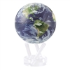 "Mova 4-/12"" Solar Spinning Globe Satellite View with Clouds"