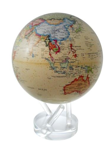 mova 8 12 solar spinning globe antiqued beige