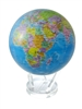 "Mova 8-/12"" Solar Spinning Globe with Political Map"