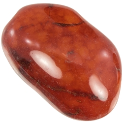 "Red Agate Stone -3/4"" Tumbled"