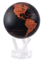 "Mova 4-1/2"" Solar Spinning Globe Copper Black Earth"