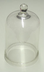 "Glass Bell Jar with Knob - 5"" x 9"""