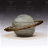 Glass Planet Paperweight Saturn Glow in the dark