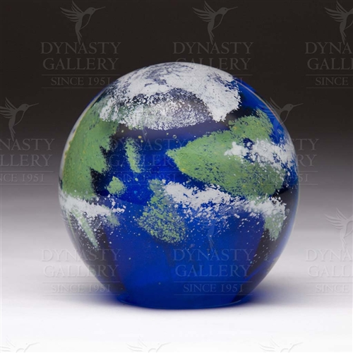Glass Planet Paperweight Earth Glow In The Dark