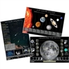 Solar System Moon and Meteors Poster Set
