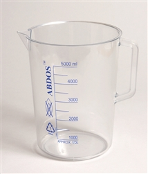 Beaker with Handle  - Printed Graduations PMP 10000ml