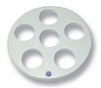 140mm Porcelain Desiccator Plate with Large Holes