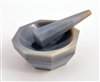 Agate Stone Mortar & Pestle Set 3.0in.