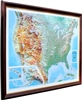 High Raised Relief Panorama Map of the USA