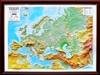 High Raised Relief Panorama Map of Europe