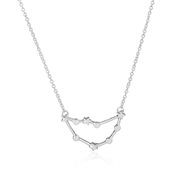 Capricorn Constellation Necklace -Silver Colored