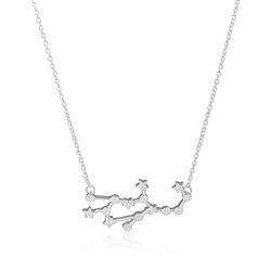 Virgo Constellation Necklace -Silver Colored