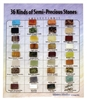 36 Semi Precious Stones on a Card