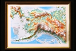 "Alaska Raised 3D Map 9"" x 12"""