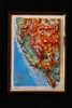 "California Raised 3D Map 9"" x 12"""