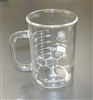 Beaker Mug with Caffeine Molecule 400ml