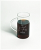 Beaker Mug with Caffeine Molecule 600ml