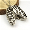 Ribcage Necklace - Silver Colored