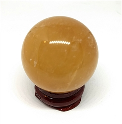 Citrine Sphere w/stand 38mm diameter