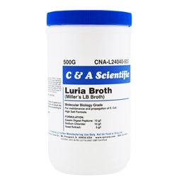 Luria Broth, High Salt Formula, Powder [Miller's LB Broth], 500g