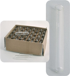 Test Tubes with Rim 25 x 200mm, Pack of 48 Tubes