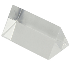 "Equilateral Prism 2"" Long 1"" Sides Acrylic"