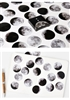 45pc Moon Phase Sticker Set